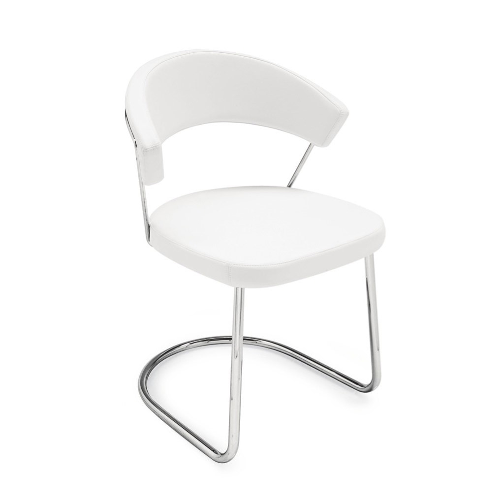 Connubia by Calligaris Sedia New York oscillante con rivestimento ...